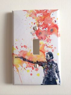 The Walking Dead Rick Grimes Decorative Light Switch Cover The Walking Dead Wall Art Room Decor