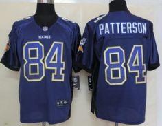 Nike Minnesota Vikings #84 Cordarrelle Patterson 2013 Drift Fashion Purple Elite Jersey