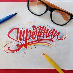 9 Hermosos logos inspirados en superhéroes y villanos Typography Love, Typography Letters, Typography Inspiration, Graphic Design Typography, Lettering Design, Design Fonte, Typographie Fonts, Calligraphy Words, Calligraphy Doodles