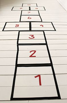 Hopscotch layout with Washi Tape. Now this is cute!