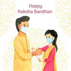 Krishna Hindu, Hanuman Chalisa, Raksha Bandhan Drawing, Geek Pride Day, World Laughter Day, Raksha Bandhan Images, Rakhi Festival, Creative Banners, Festival Image