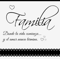 linda frase para la familia
