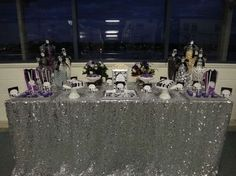Purple, Black, White and Silver Birthday Party Ideas | Photo 3 of 16 | Catch My Party
