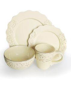 Take a look at this Bianca Petals Cream Dinnerware Set by Jay Import