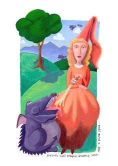 Feeding your Dragons by Denise Merkling #dragon #illustration