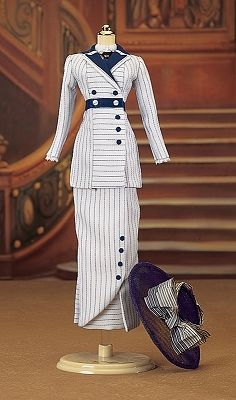 Franklin Mint Doll Costume - Boarding Suit from Titanic movie.