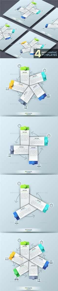 Modern Infographic Cycle Template (4 Items) PSD, Vector EPS, AI Illustrator