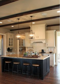 kitchen & beams