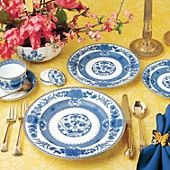 """Mottahedeh """"Imperial Blue"""" 5 Piece Plate Setting"""