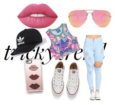 Chill day by india-k-love on Polyvore featuring polyvore, fashion, style, adidas Originals, Converse, Casetify, Quay, Lime Crime and clothing