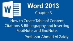 MS Word Ch 3