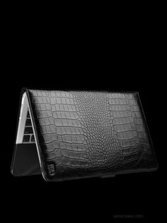 "outfitYOURS.com - Sena Leather Folio for 13"" MacBook Air - Croco Black, $139.95 (http://www.outfityours.com/sena-leather-folio-for-13-macbook-air-croco-black/)"