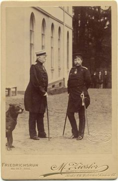 Otto von Bismarck and Kaiser Wilhelm II of Germany.   30 Oct 1888.   Wilhelm had only been Emperor for just over 4 months.