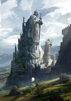 The castle of Knights #FantasyLandscape #FantasyLandscaping