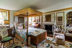 The bedroom dates right back to 1700, including its decor.