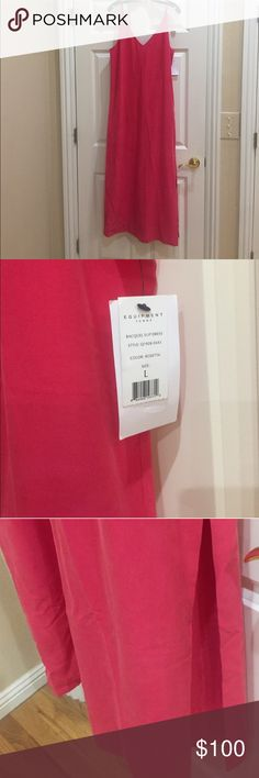 NWT Equipment Silk Slip Dress in pink NWT Equipment Silk Slip Dress in pink.  Midi and maxi. Equipment Dresses Maxi