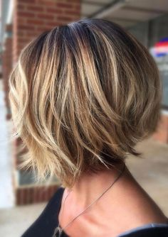 Trending Stacked Short Bob Haircuts for Women in 2019 layered bob hairstyles are fabulous.layered bob hairstyles are fabulous. Bob Haircuts For Women, Short Bob Haircuts, Inverted Bob Haircuts, Short Hair Cuts For Women Bob, Haircut Bob, Thin Hair Styles For Women, Haircut Short, Haircut Style, Hairstyle Short