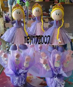 Tangled party centerpice