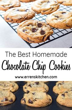 This easy recipe for The Best Homemade Chocolate Chip Cookies makes perfect cookies from scratch that are crispy on the outside with a soft & chewy center. #chocolatechipcookies #cookies #recipe #dessert #christmascookies #cookies...more #cookierecipes #christmascookieexchange #baking #bakingrecipes