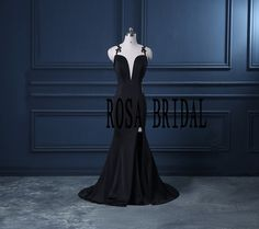 138Hey, I found this really awesome Etsy listing at https://www.etsy.com/listing/248939890/black-deep-v-neck-prom-dress-sexy-prom