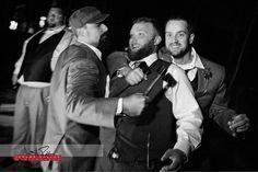 The hatchets may have been a bad idea for groomsmen gifts.   #wedding #idaho #idahowedding #hatchets #groomsmen #groom