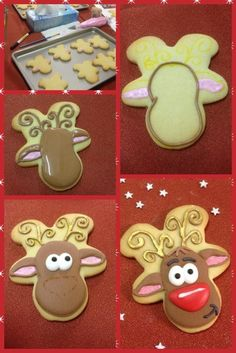 DIY Reindeer Cookies #Recipe | #christmas #xmas #holiday #food #desserts #holidayrecipe