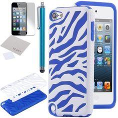 Pandamimi ULAK(TM) White & Navy Blue Zebra Combo Hard Soft High Impact Armor Case Skin Gel for Apple iPod Touch (Generation 5) + Screen Protector + Stylus by ULAK, http://www.amazon.com/dp/B00CSEG2UI/ref=cm_sw_r_pi_dp_hkdLrb1VDGA9X