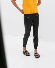 Leather Effect Trousers {Zara}