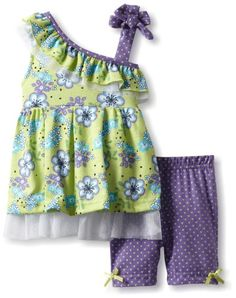 Pin it! :) Follow us :)) zBabyBaby.com is your Baby Gallery ;) CLICK IMAGE TWICE for Pricing and Info :) SEE A LARGER SELECTION of baby girl clothes at http://zbabybaby.com/category/baby-categories/baby-clothing-and-accessories/baby-girl-clothes/ - baby, infant,  nursery, baby shower, baby stuff, baby gear, toddler, toddler stuff, baby girl clothes, baby clothes  -  Little Lass Baby-Girls Infant 2 Piece Bike Short Set With Strap Detail, Green, 24 Months « zBabyBaby.com
