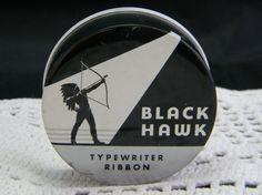 Vintage Black Hawk Typewriter Ribbon Tin by VogelHausVintage, $8.00
