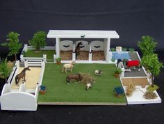 The most important role of equestrian clothing is for security Although horses can be trained they can be unforeseeable when provoked. Riders are susceptible while riding and handling horses, espec… Toy Horse Stable, Schleich Horses Stable, Horse Stables, Horse Farms, Riding Stables, Kids Barn, Barbie Horse, Horse Shop, Bryer Horses