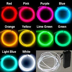 EL Wires - EL Wire Kit - Electroluminescent Wire  http://www.fiberopticlighting.co.za