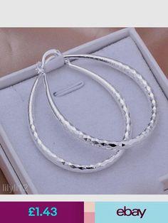 6d3dc8abcfac Earrings Stunning Lady Silver Plated Twinkle U Hoop Evening Party Dangle  Earring Fancy
