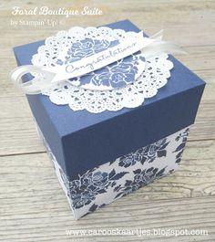 Stampin' Up! Floral Boutique designer series paper, scrappapier, doosje, box, explosion box, gift, cadeautje, present, chocolate box, Caro's Kaartjes, Stampin' Up! producten zijn verkrijgbaar via Caro's Kaartjes; carooskaartjes@hotmail.nl