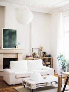Eine coole DIY-Idee für dein Wohnzimmer: ein Couchtisch aus Europaletten!