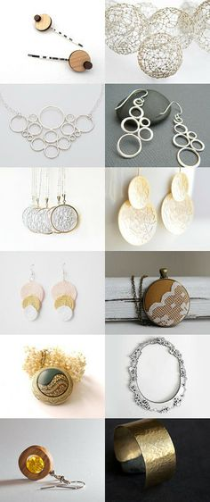 Sterling Silver Bubble Necklace. Round and Round into the Summer by Anja Petek on Etsy--Pinned with TreasuryPin.com