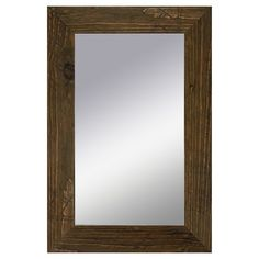 PTM Rustic Wood Mirror - Brown for bathroom. This is also available at Office Depot for less.