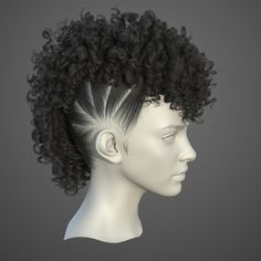 This is my I make a hair practice. Hope you like them. 3d Model Character, Character Modeling, Character Design, 3d Modeling, Anime Girl With Black Hair, Black Curly Hair, Black Girls, Zbrush Anatomy, 3d Anatomy