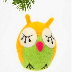 Christmas owl ornament Urban Outfitters