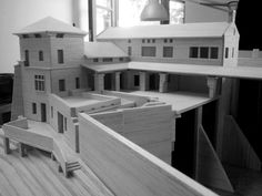 Villa Kohanyi model - at work Scale: 1:100 #godel #architect #architecture #archmodel #model #building #villa #hungary