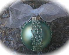 Beaded Ball Ornament, Netting stitch