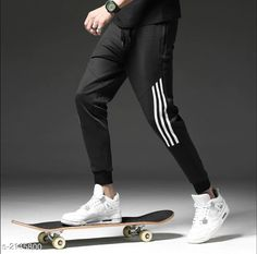 Track Pants  Voguish Polyester Men's Track Pant Fabric: Polyester Size: S- 28 in M - 30 in L - 32 in XL - 34 in XXL - 36 in Length: Up To 39 in Type: Stitched Description: It Has 1 Piece Of Men's Track Pant Pattern: Striped Country of Origin: India Sizes Available: S, M, L, XL, XXL   Catalog Rating: ★3.9 (11446)  Catalog Name: Comfy Voguish Polyester Mens Track Pants Vol 1 CatalogID_284638 C69-SC1214 Code: 772-2145800-585