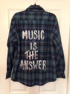 hand painted grunge plaid shirts - Google Search