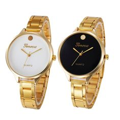 >> Click to Buy << Women's Fashion Golden Stainless Steel Band Analog Quartz Wrist Watch  #Affiliate