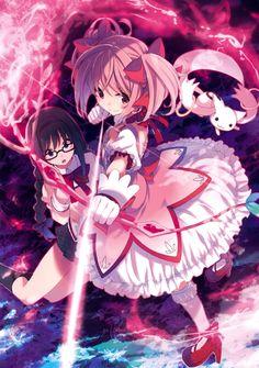 Artist: Hamayumiba Sou | Puella Magi Madoka Magica | Akemi Homura | Kaname Madoka | Kyubey