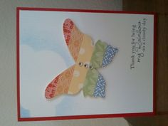 "Butterfly ""Thank you for being my rainbow on a cloudy day"" card"