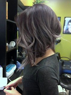 Lavender (I see gray) Balayage - Saw this just when I was getting really depressed about my precocious grey hairs. So f* awesome.