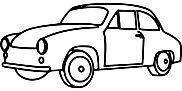 Ausmalbild/Malvorlage Auto (Klicken für Großansicht + PDF)