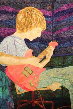 Why be captured in a painting when you could be captured in an art quilt? Stunning!