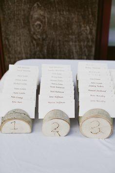 cloud 9 wedding - birch escort card holders